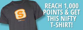 Social Toaster T-shirt Free T-Shirt or Woolly Hat Free T-Shirt or Woolly Hat socialtoaster prize shirt